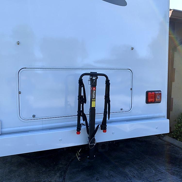 Four bike rack available