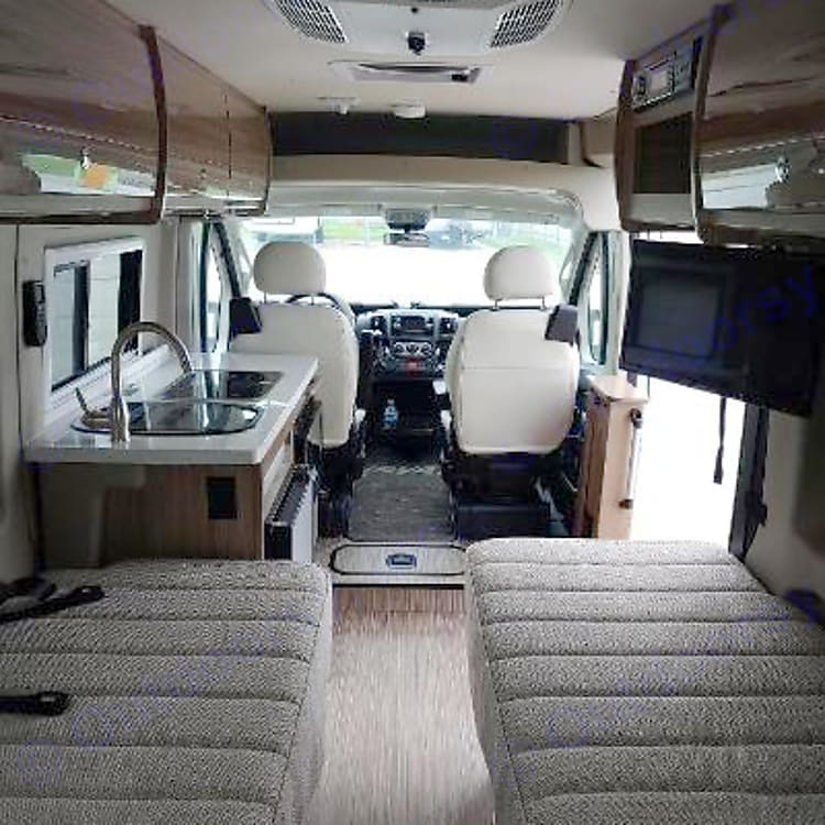 Internal view from rear of coach