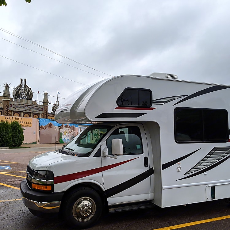 Parked to see the corn palace
