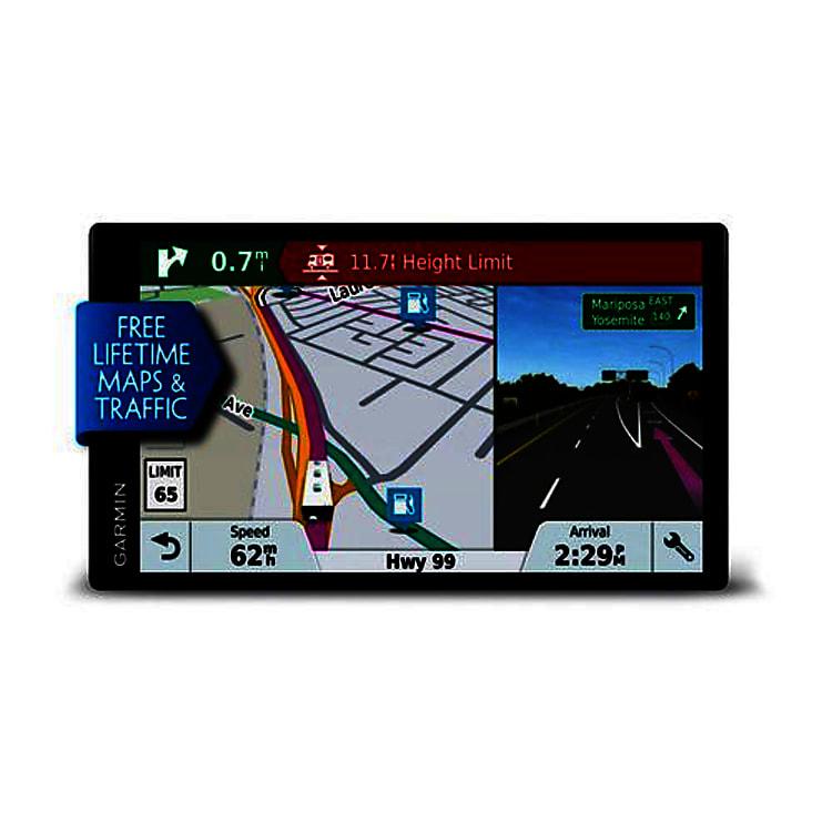 Garmin RV GPS system - set to Hela's dimensions