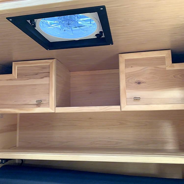 rear interior cabinets/shelves