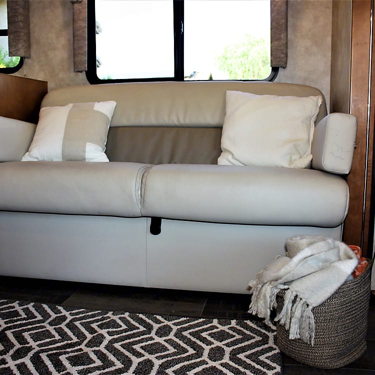 Jack-knife sofa converts to a bed