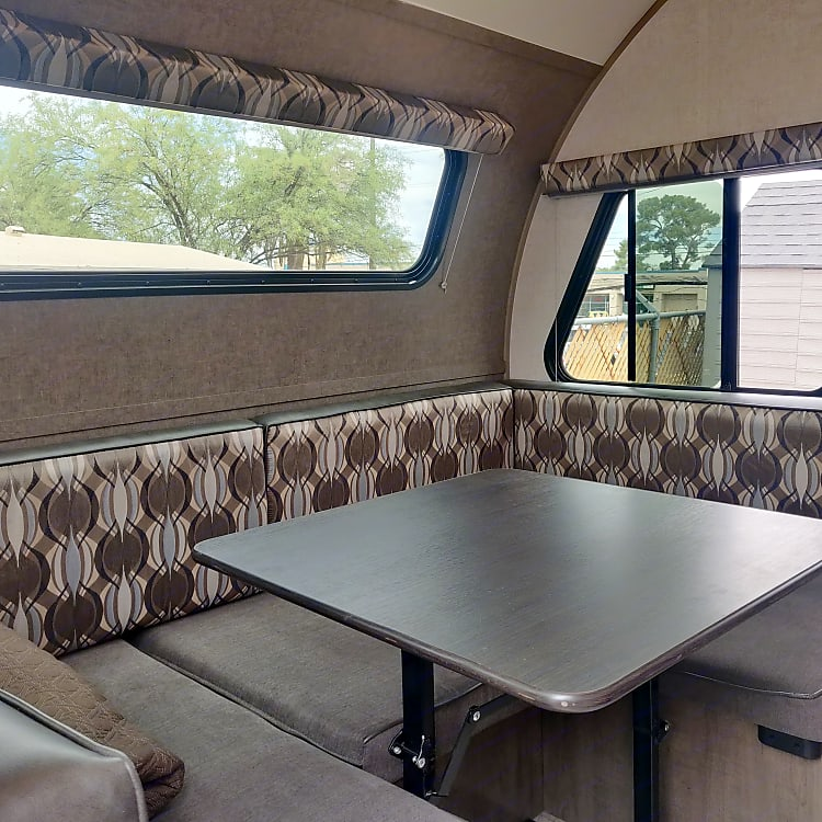 Large booth easily seats 4.