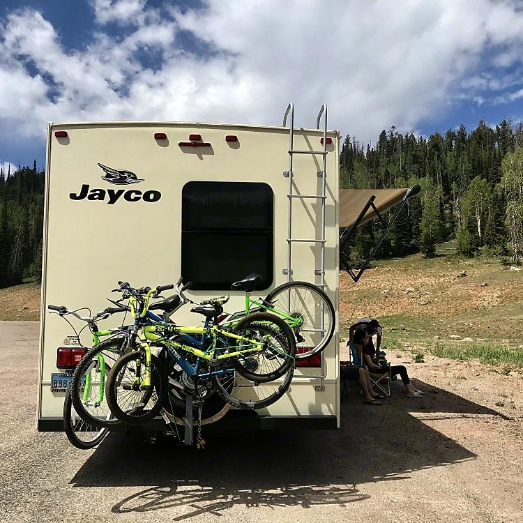 Bike Rack can hold 3 Bikes