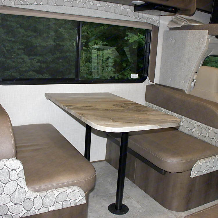 Dinette breaks down to a 42 x 71 bed