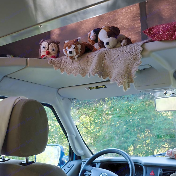 The kids give their plush toys premium spots in the pop top!