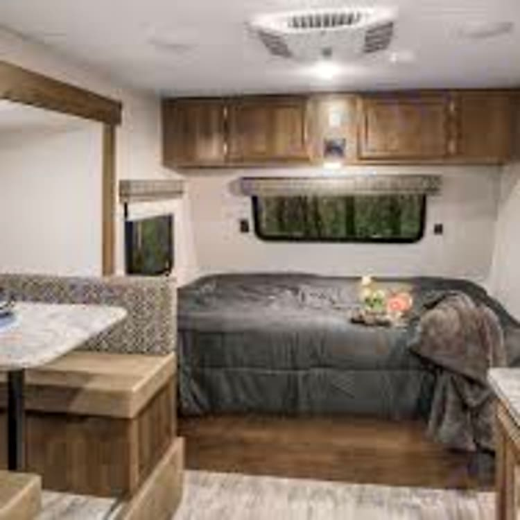 Spacious interior with pop out