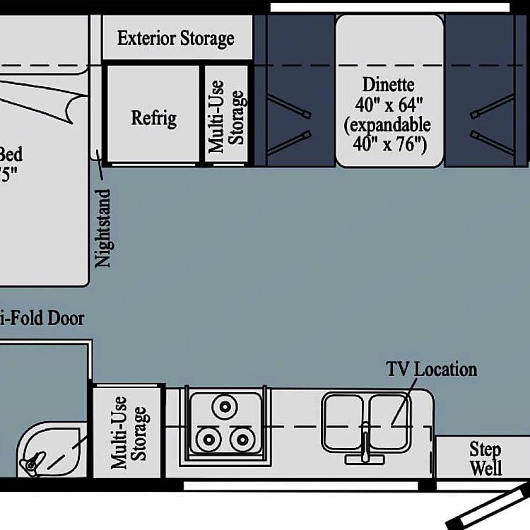Floorplan from Winnebago site