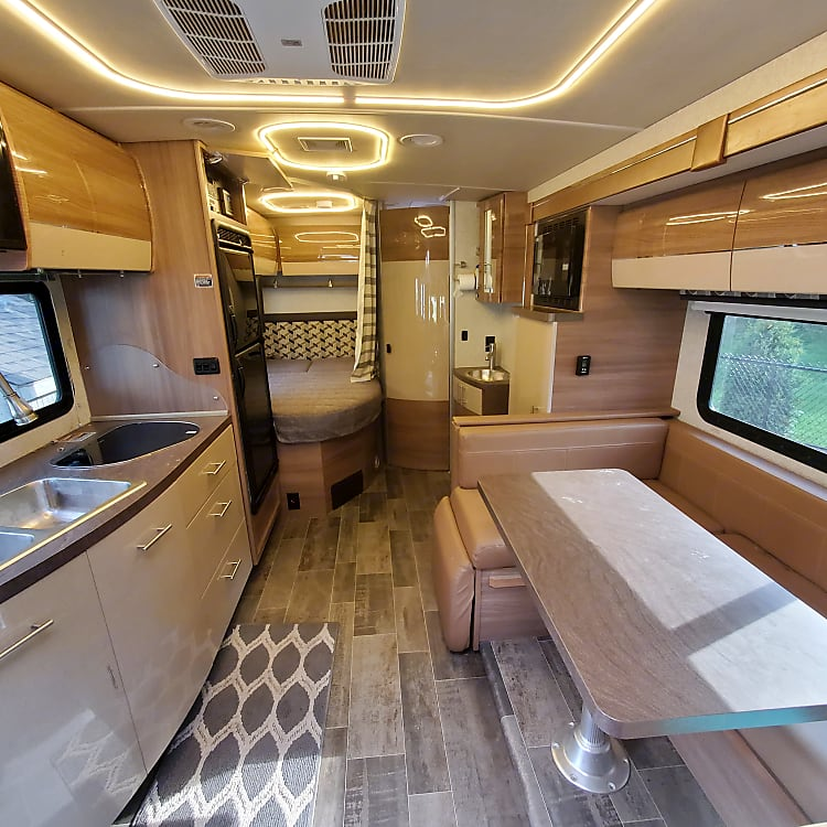 Interior RV view from front