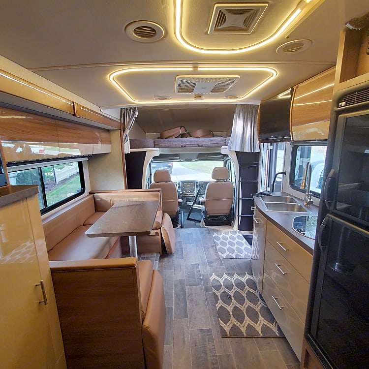 Interior RV view from rear