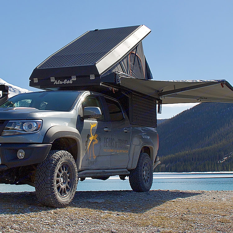 270° Awning protects from sun and rain