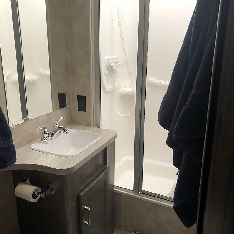 Full bathroom with your own private shower! No public restrooms for you!!