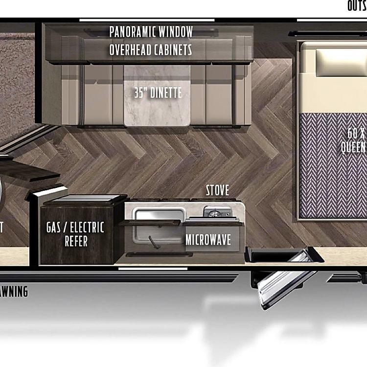 Interior floor plan and measurements