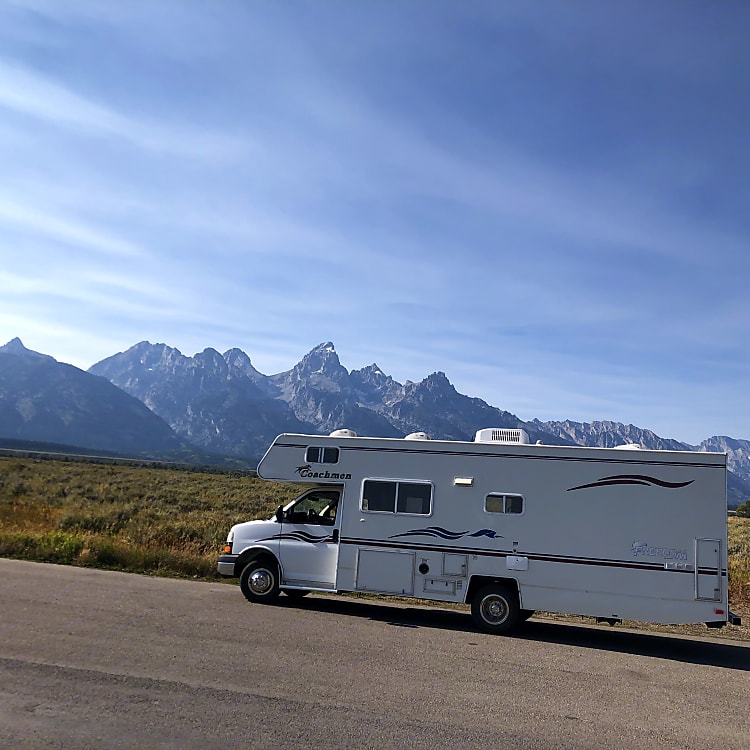 Here she is in Grand Tetons NP
