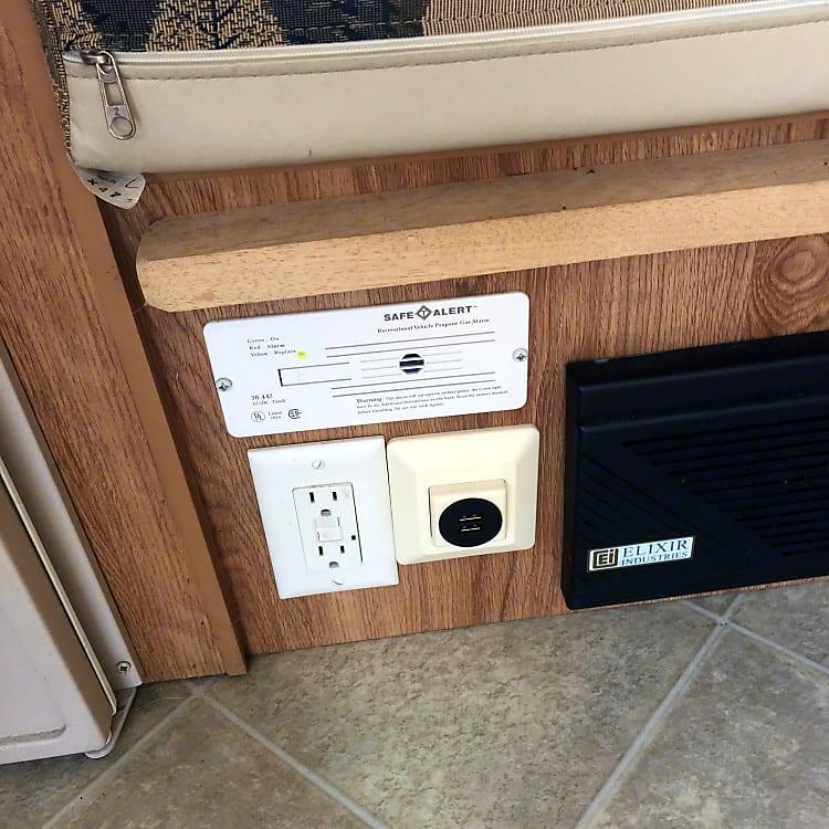 USB charging ports.