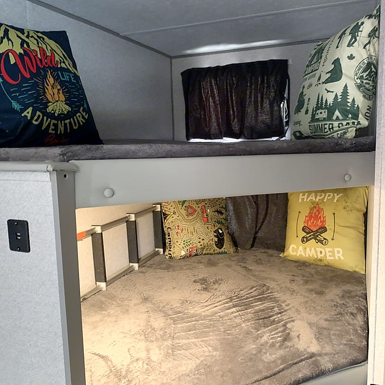 Double Over Double Bunks with Ladder