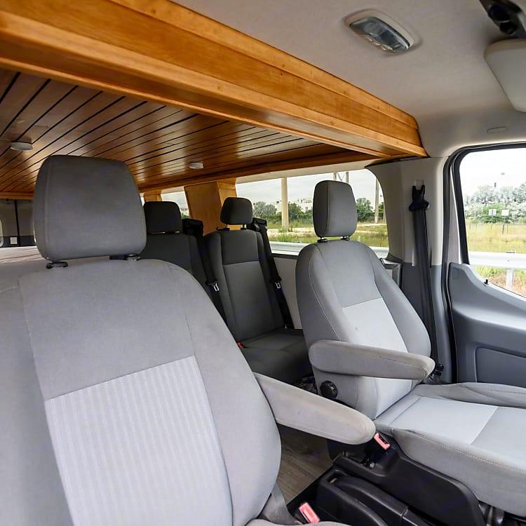 Seats 4 travelers