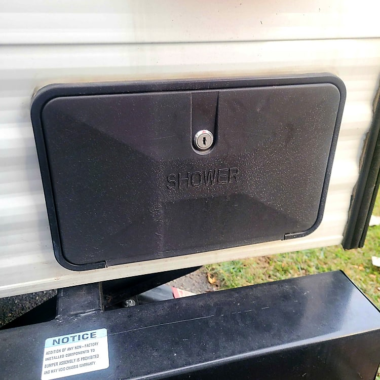 Outdoor shower for pets or wash boots and shoes or clothes