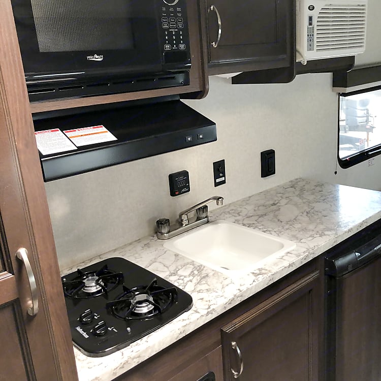 Rainy day? We got you covered with a full indoor kitchen!