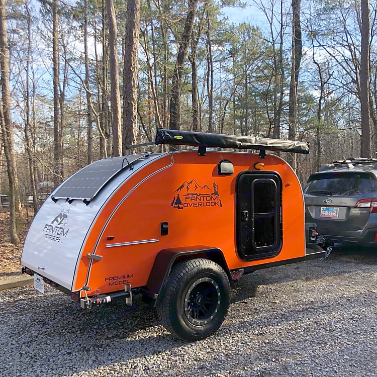 Solar panels provide power for lights, cooler and fan while you are boondocking.