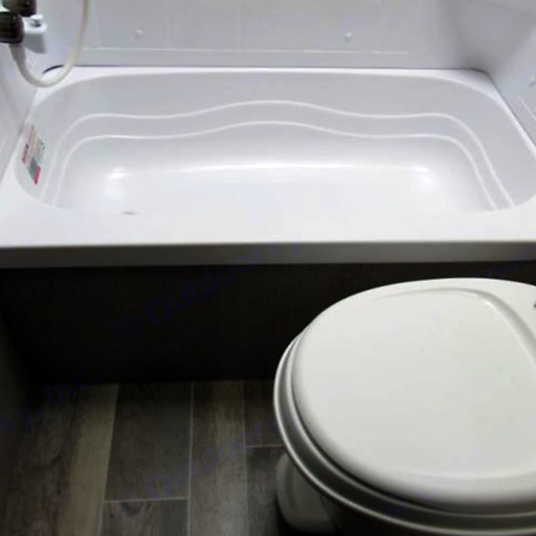 Toilet, tub and shower