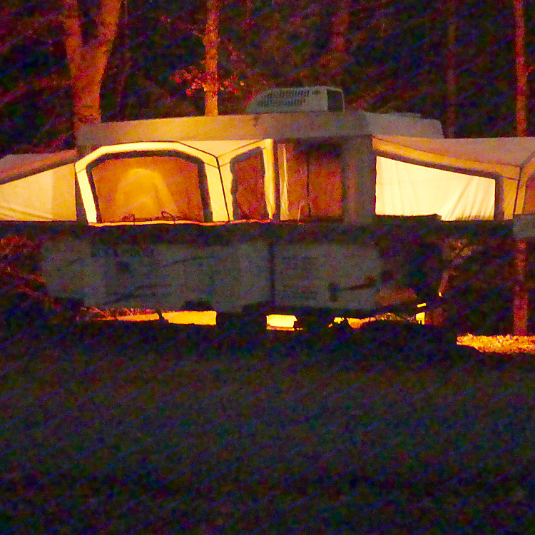 Nightime View of Camper