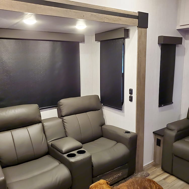 Theater seating adds more to the movie viewing experience.
