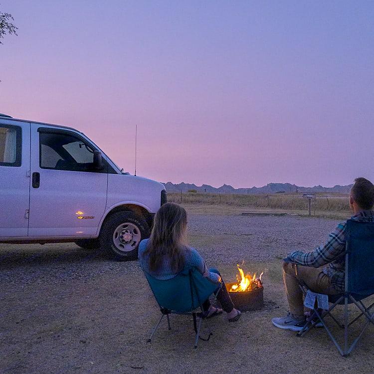 Camping in Badlands National Park