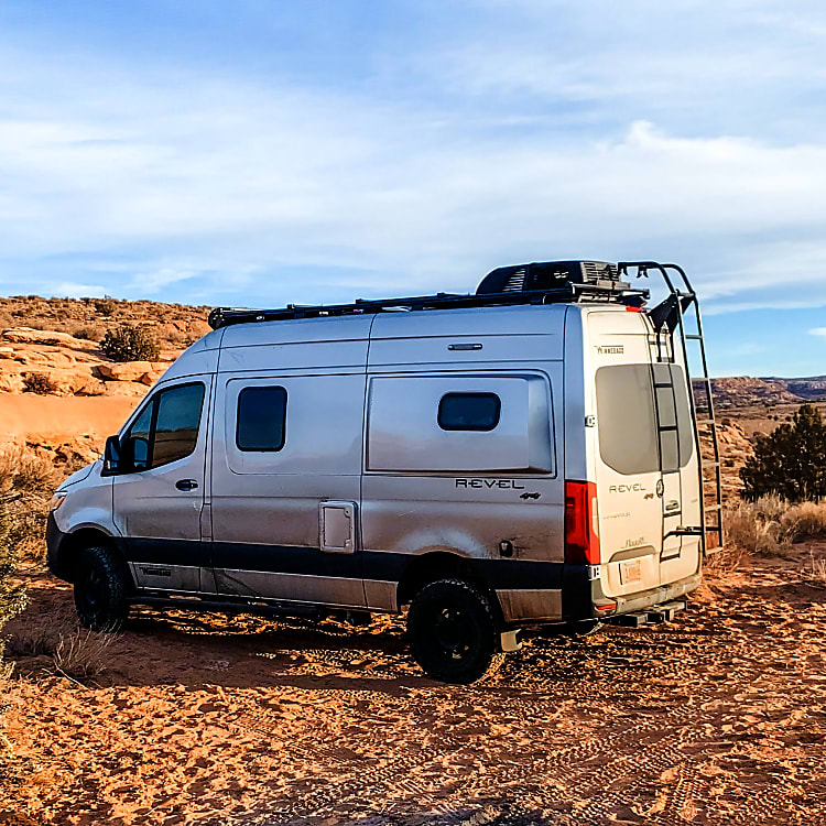 Boondocking in the Rocinante outside Moab, UT
