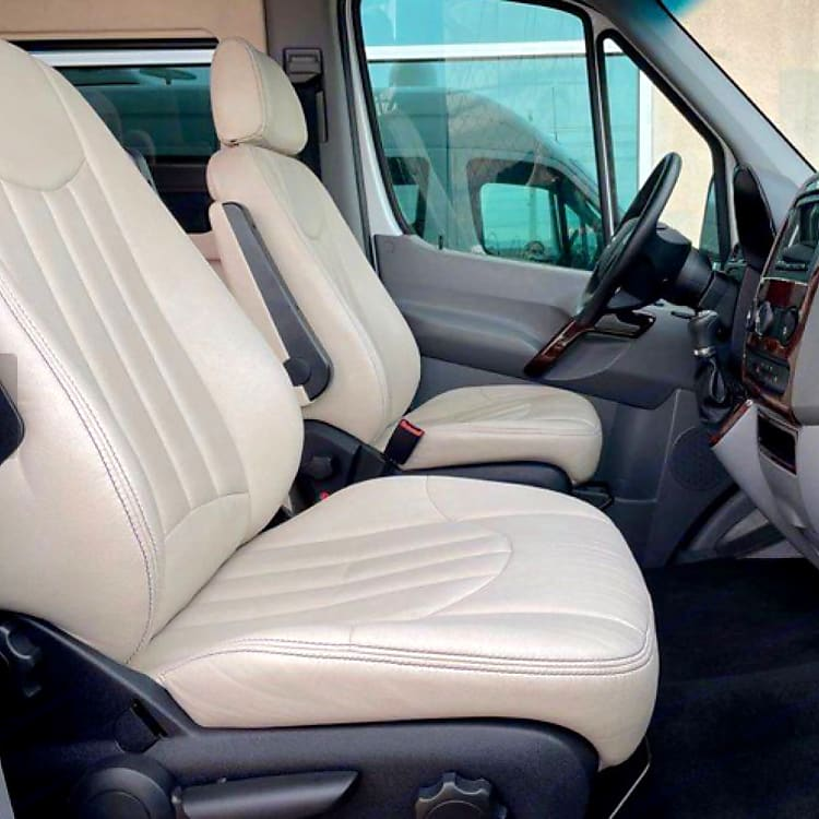Soft leather, cushioned seats!