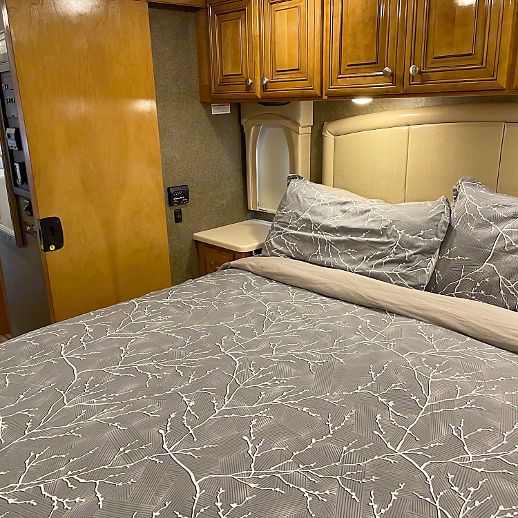 There is a door to shut off the master suite giving you privacy from everyone else!