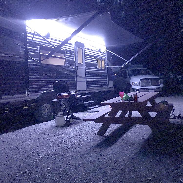 Night set up-with LED lights on.