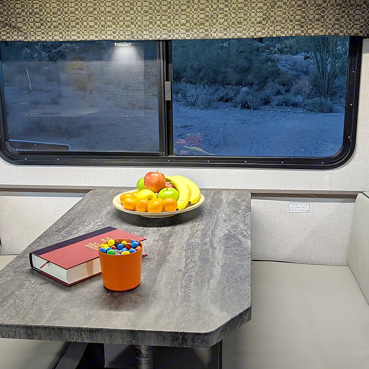 Dinette seats 4 comfortably.