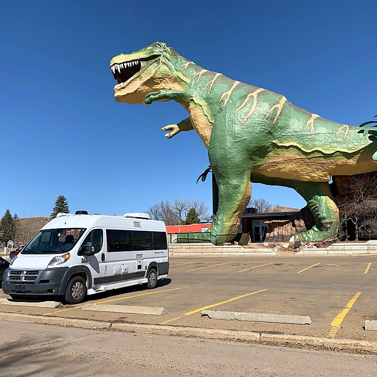 Photo taken in Drumheller, AB. Easily park wherever any standard vehicle could park