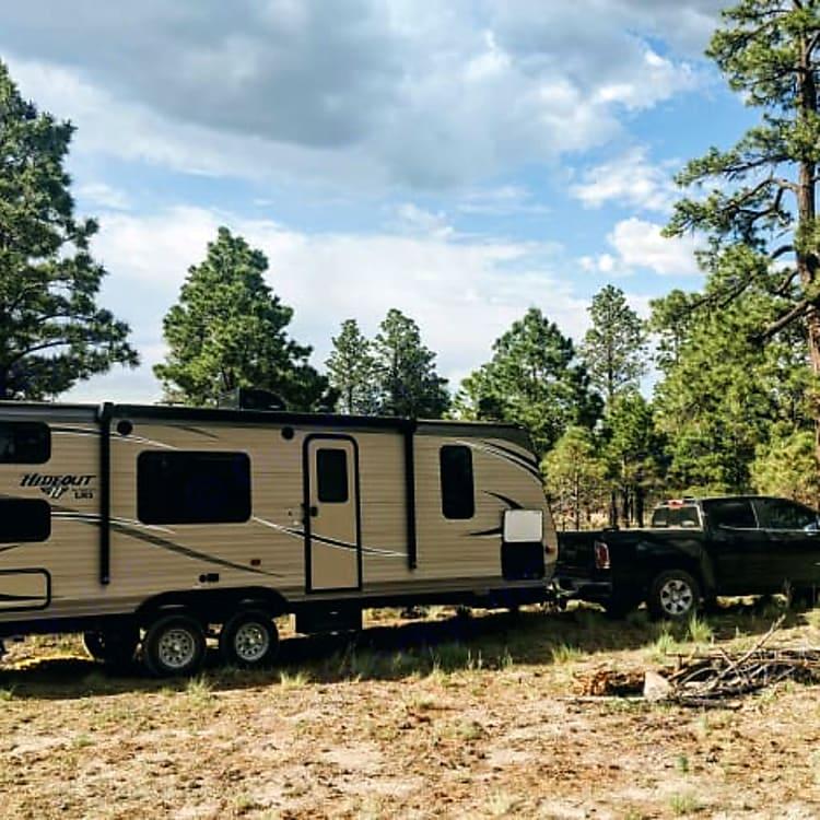 Our favorite location in Flagstaff! Near Lockett Meadow, dispersed camping.