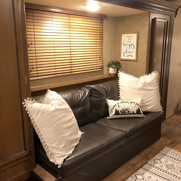 Large couch that converts to a bed for extra guests
