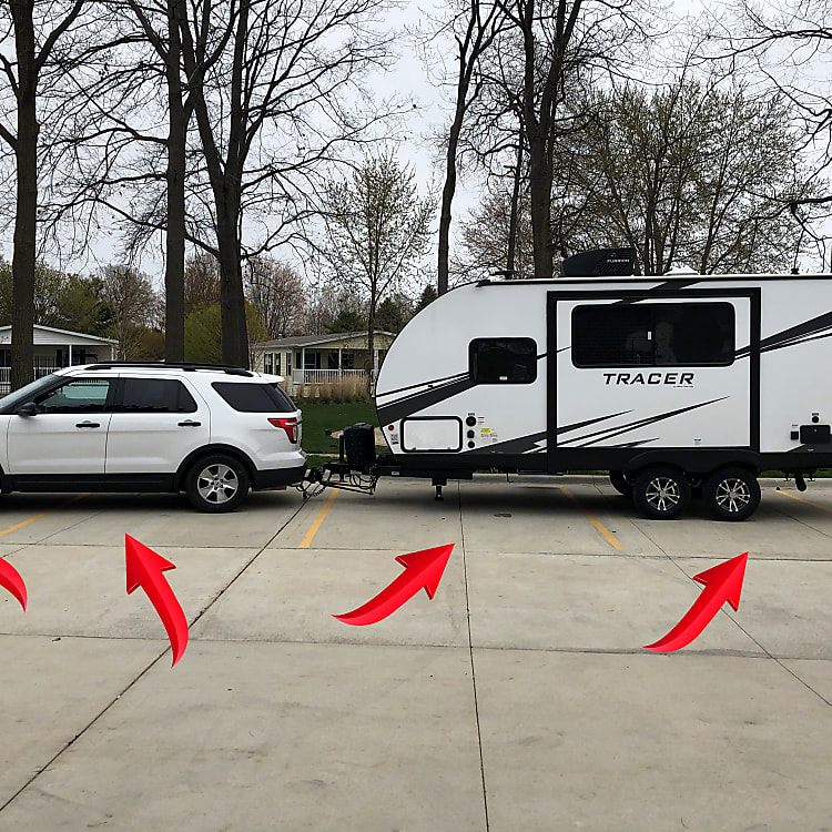 3-4 Car spaces in length depending on your vehicles size. The Weight Distribution System Balances The Two Vehicles - Ask For More Info About This.