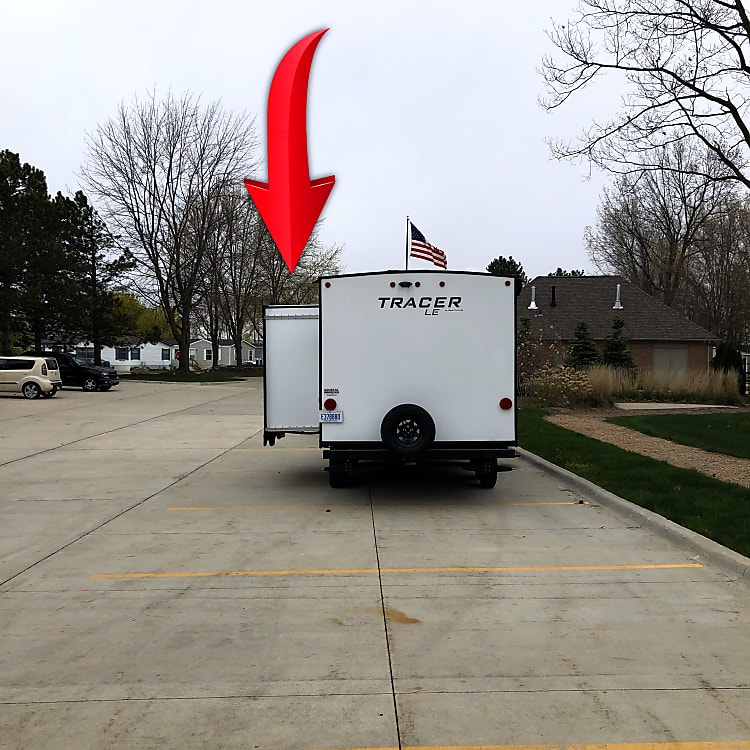 The Trailer is Tall - Make sure Nothing Is On Slider When Closing; Like Tree Limbs; Please - Very Important.