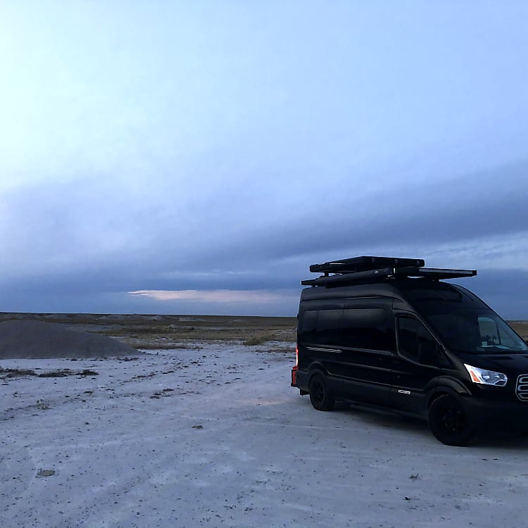One of our favorite nights in National Grasslands just outside of Badlands National Park. It felt like we were camped on the moon!