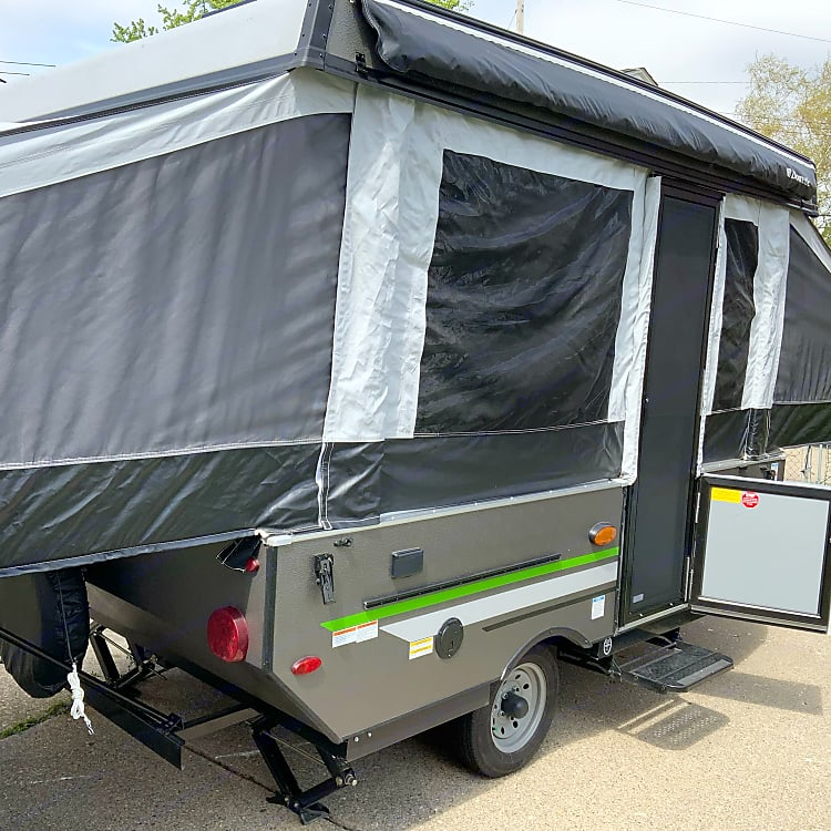 Fully screened in and an awning to keep you cool