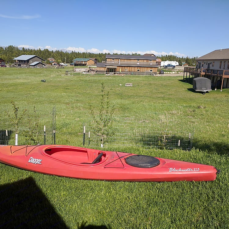 We can include a pfd and paddle for this single person kayak.
