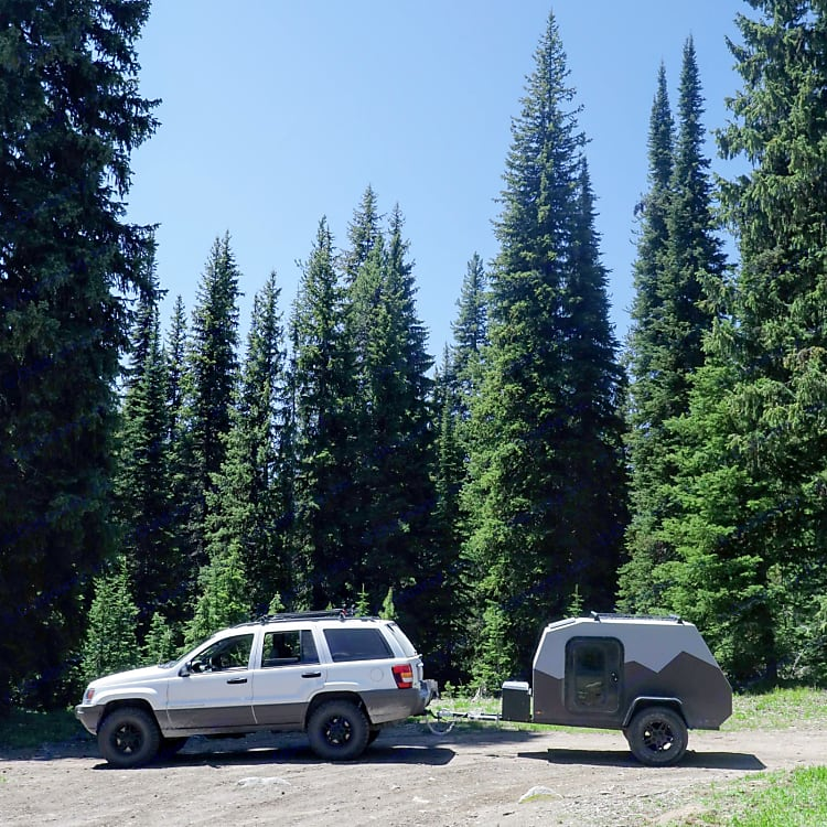 The Camper is the same width as a Jeep or small SUV, which makes for easy maneuvering.