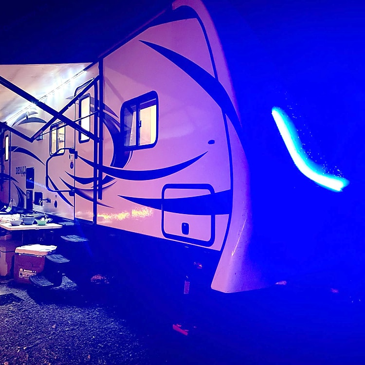 Ambient front lights to let your neighbor campers know that you are home or the party is ON