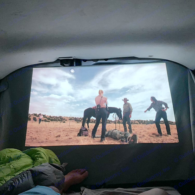 Watch your favorite movie or show every night before bed with our projector and projector screen!