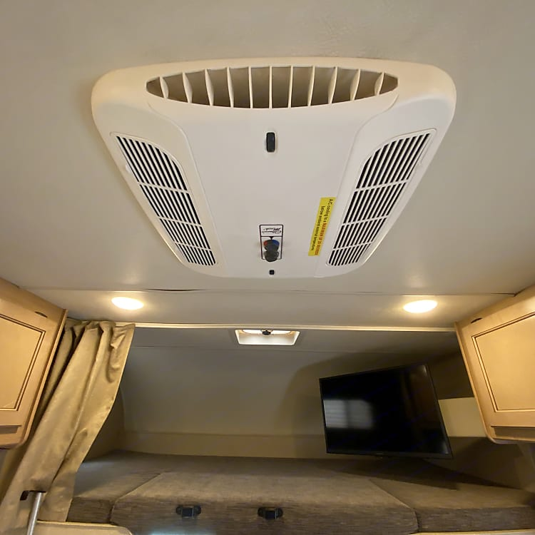 AC and Fan is right above.