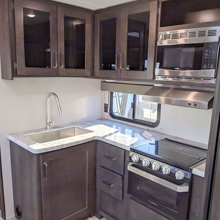 Cooking is fun, Clean as you go is a great motto, please return trailer as received, oven, micro ,fridge ,freezer. So conveniant.