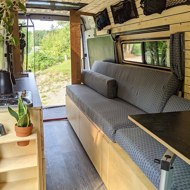 Interior of the van allows full access from side or rear entrance, and a 360 degree view!