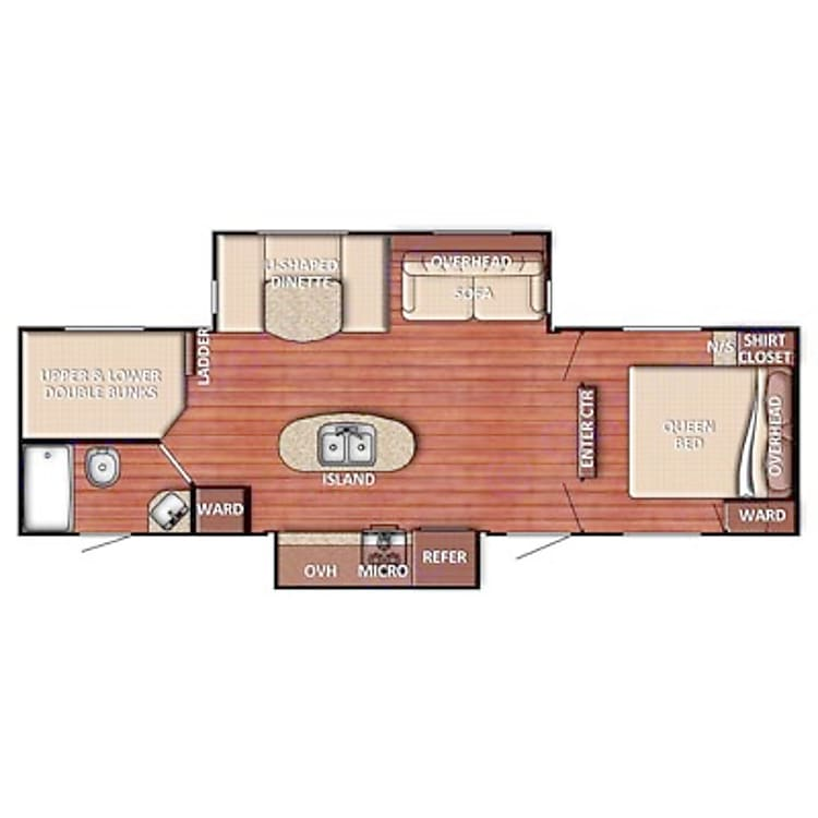 This is the layout of the travel trailer.