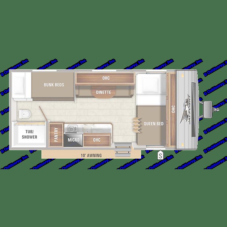 Floor plan of the camper