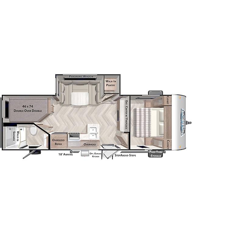Floorplan including side popout